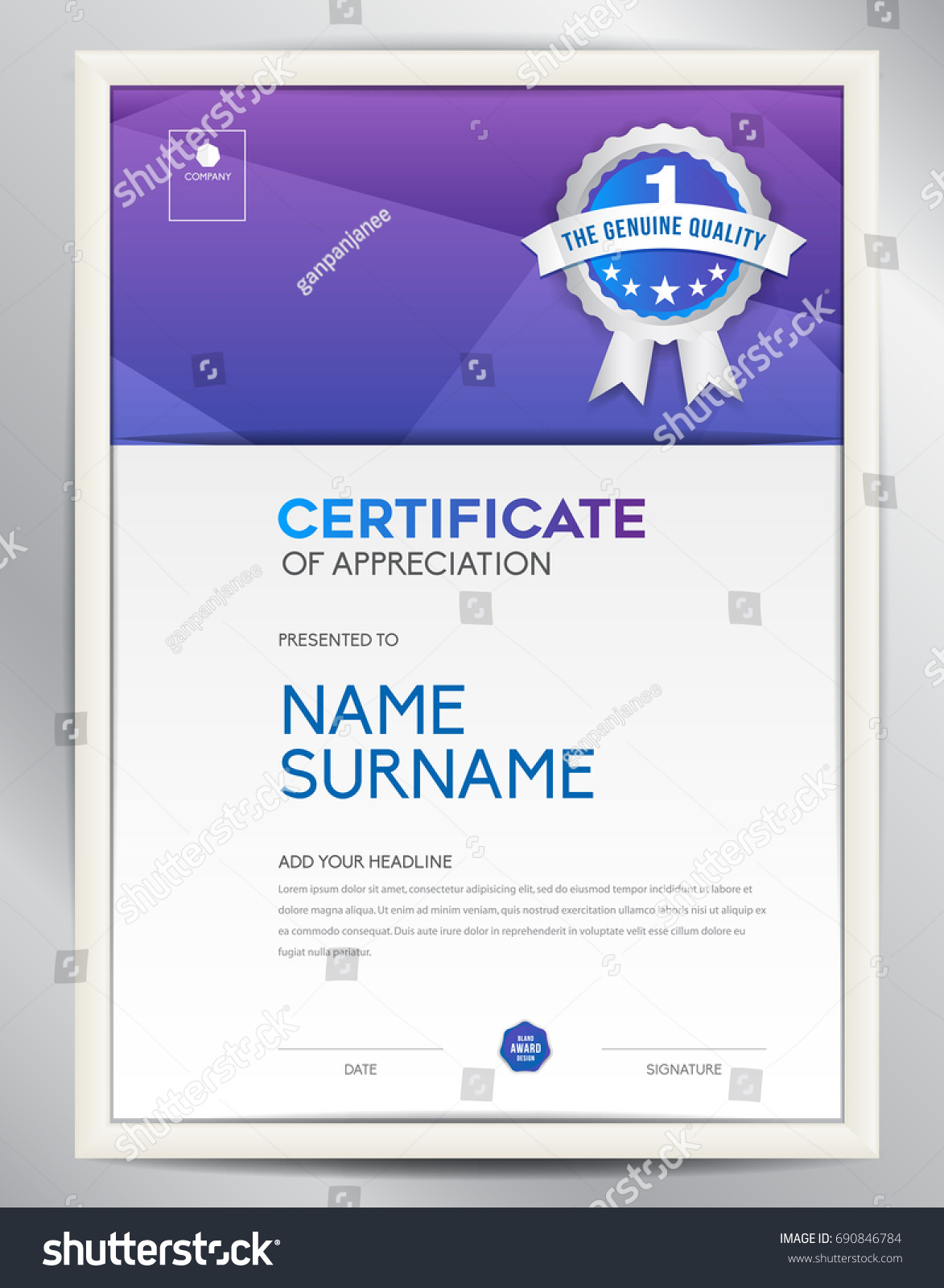 Certificate template vector illustration diploma layout stock certificate template vector illustration diploma layout in a4 size business flyer design advertisement xflitez Gallery