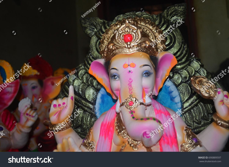 ganpati bapa raja hd wallpapers stock photo (royalty free) 690889597