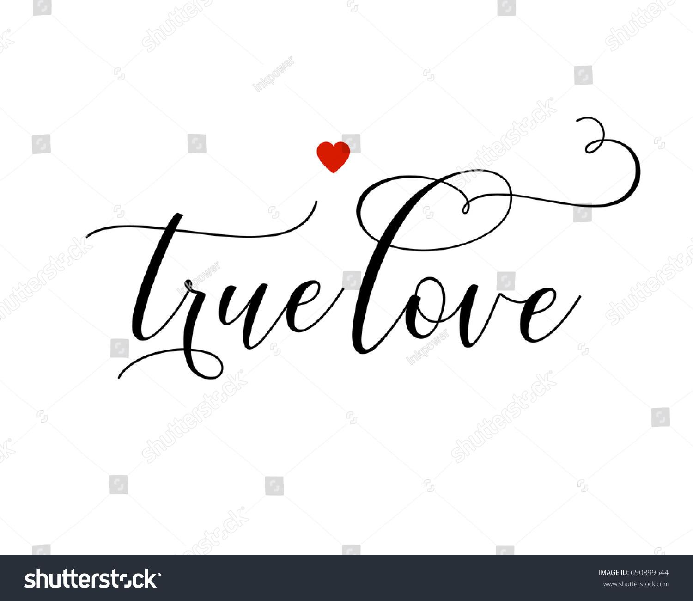 Script Wedding Text Word Art Vector Design For True Love