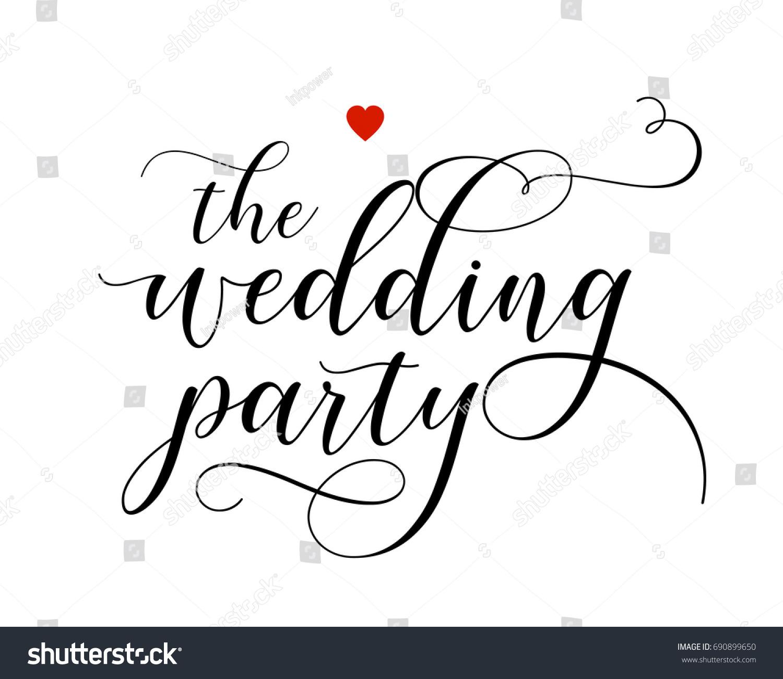 Script Wedding Text Word Art Vector Stock Vector 690899650