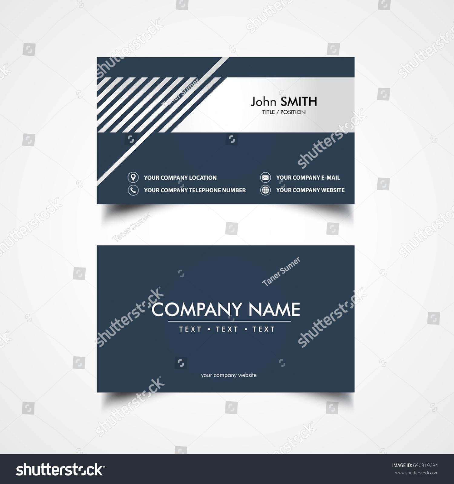 Simple business card template vector illustration eps file ez id 690919084 flashek Images