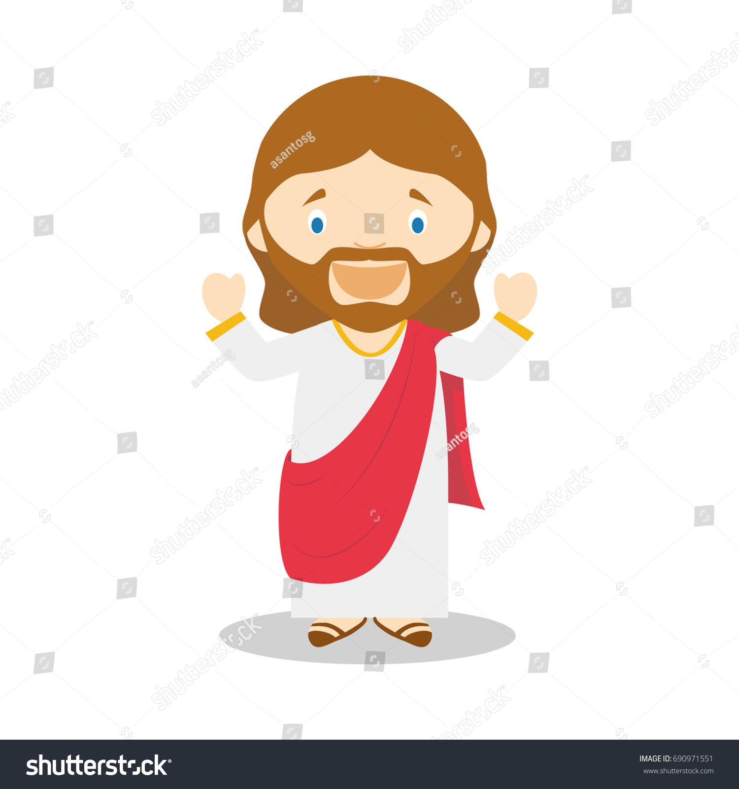 Cartoon Characters Using Shapes : Jesus nazareth cartoon character vector illustration stock