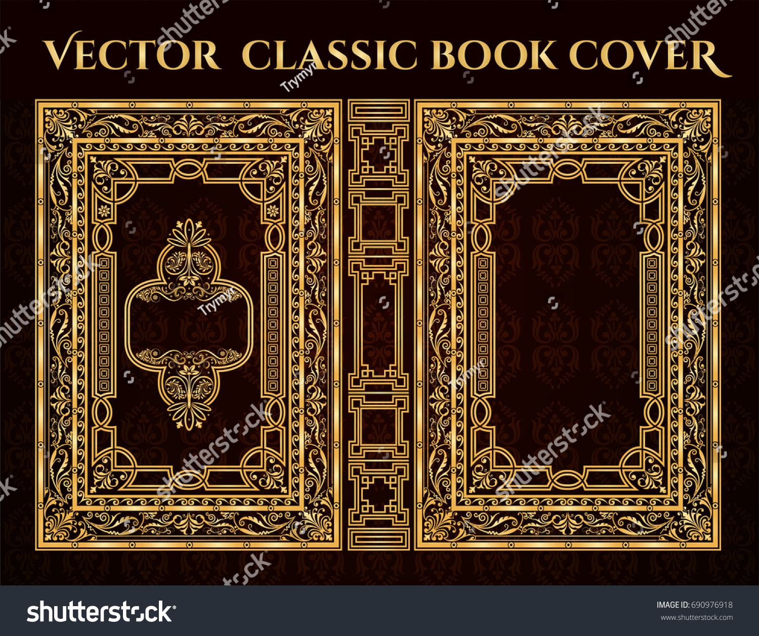 Poetry Book Cover Vector : Vector classical book cover decorative vintage stock