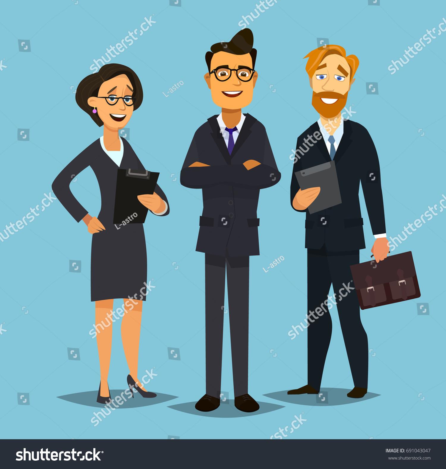 Business team cartoon characters cartoon vector cartoondealer com - Business People Group Standing Team Vector Illustration In Flat Style