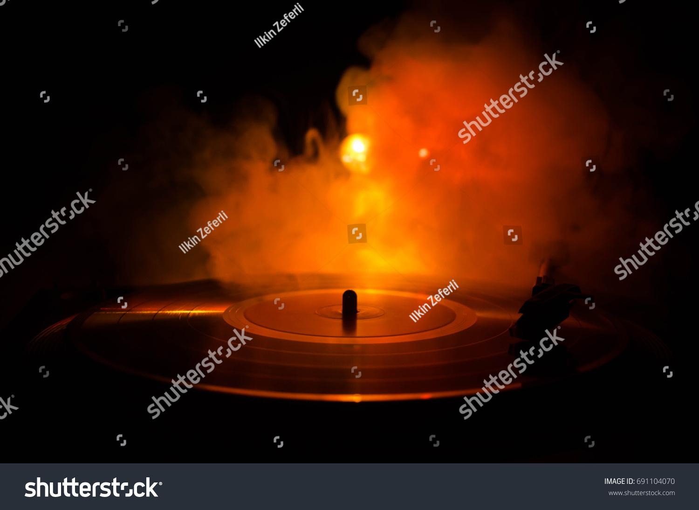 Turntable Vinyl Record Player Retro Audio Stock Photo (Edit Now