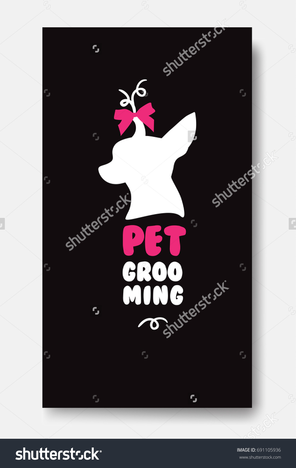 Business Card Template Pet Grooming Little Stock Illustration ...