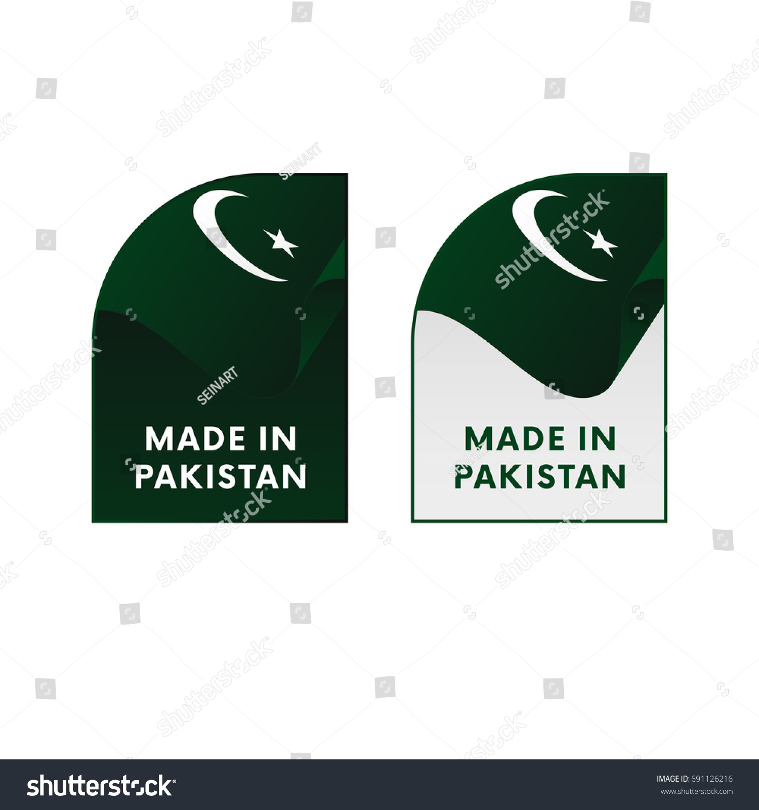 Stickers made in pakistan vector illustration