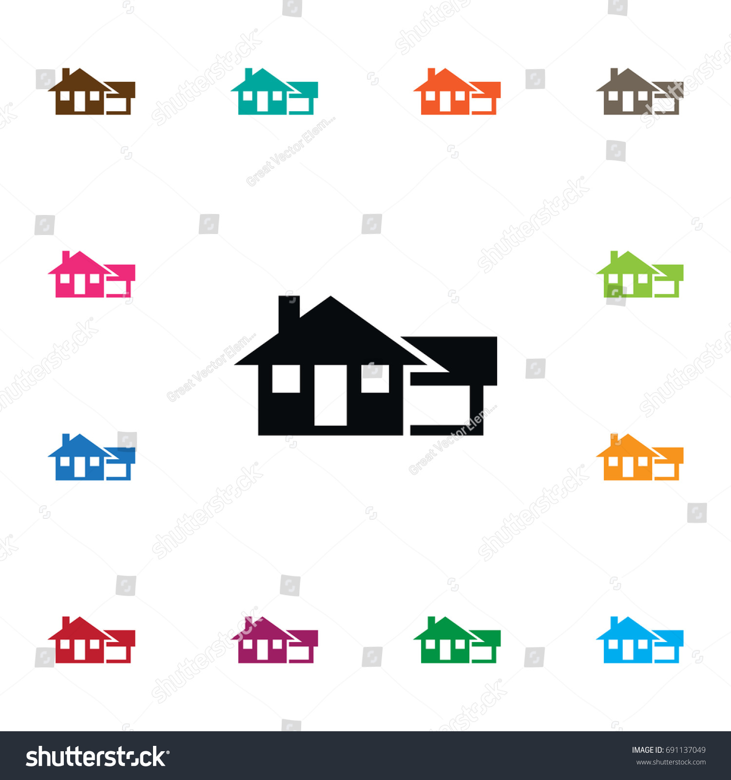 Isolated Farmhouse Icon Ranch Vector Element Can Be Used For House