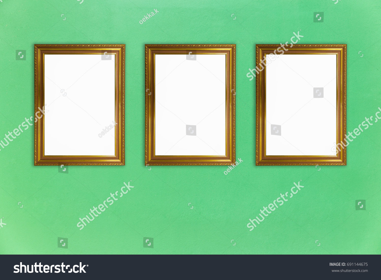 Blank Golden Vintage Photo Frames Collage Stock Photo (Edit Now ...