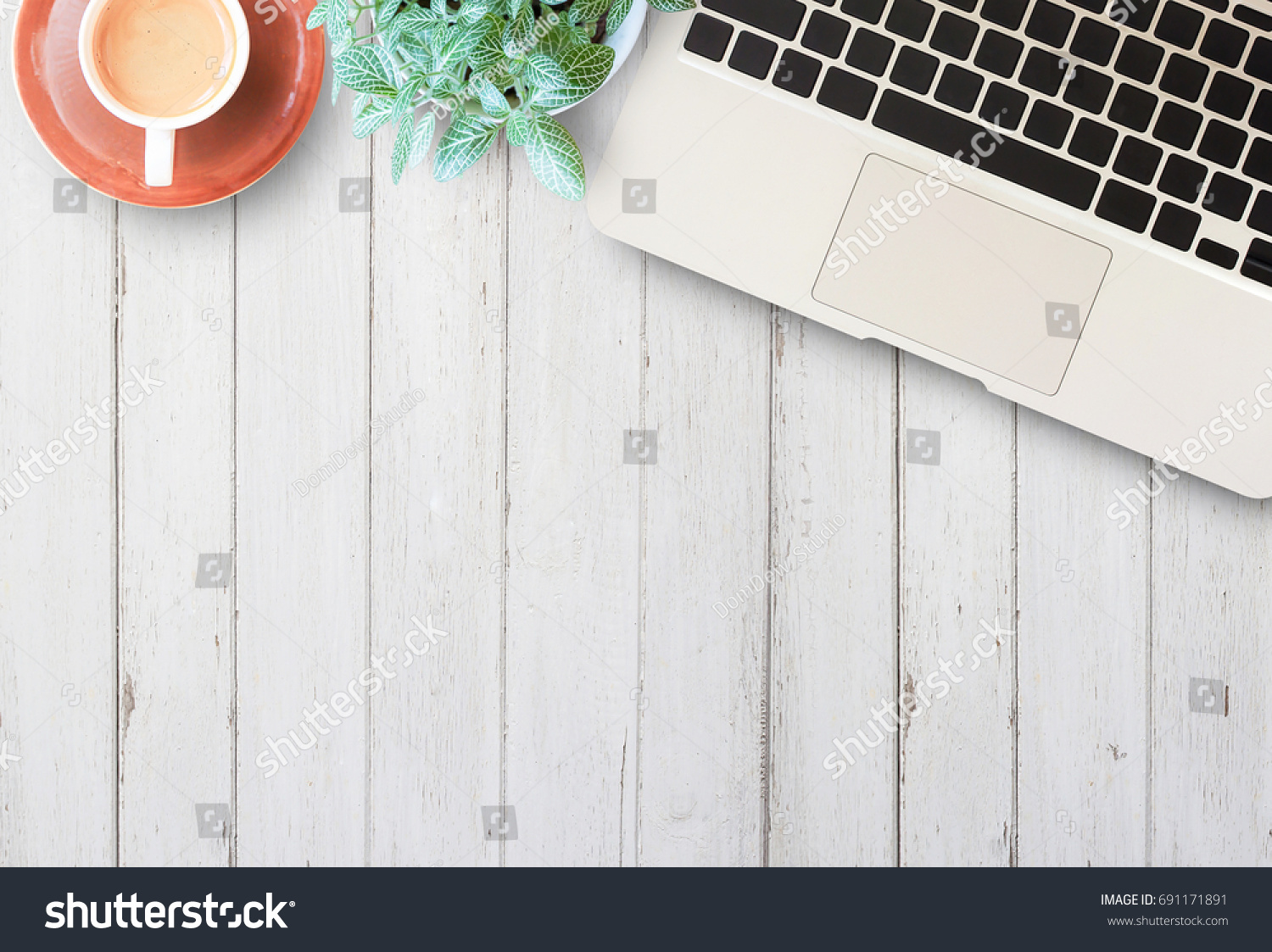 Flat Lay Home Business Desk Communication Stock Photo (Edit Now ...