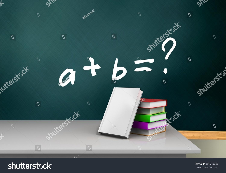 3 D Illustration Schoolboard Math Exercise Text Stock Illustration ...