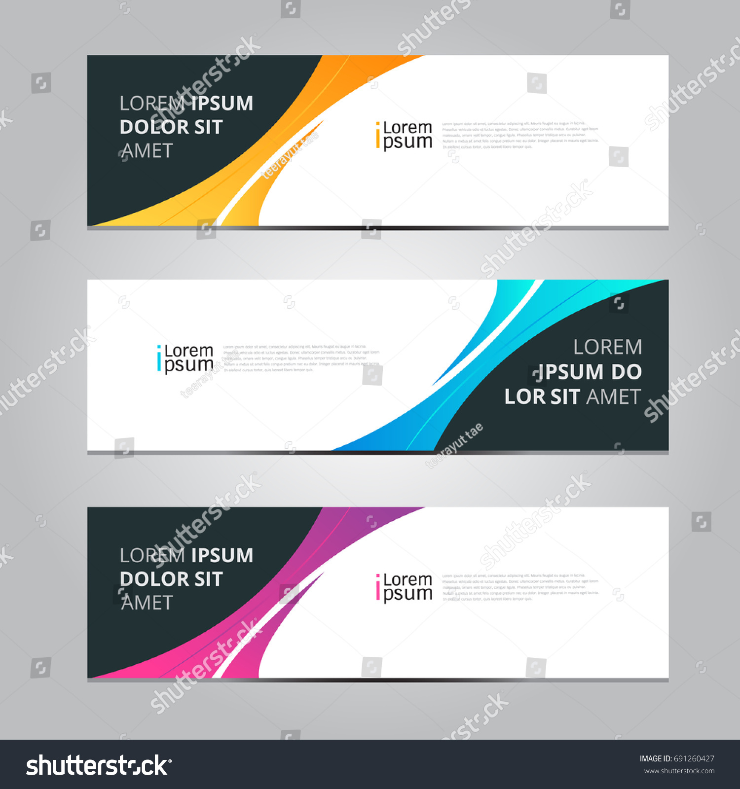 Vector abstract design banner web template. #691260427