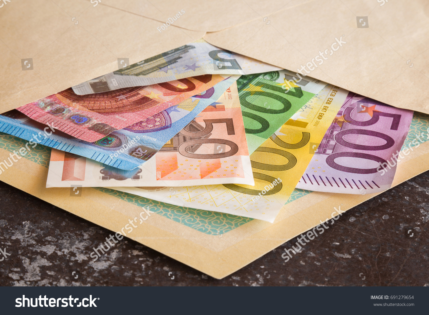 euro paper money envelope received money stock photo royalty free