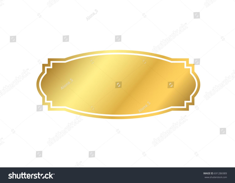 Simple Elegant Line Art : Gold frame beautiful simple golden design stock vector