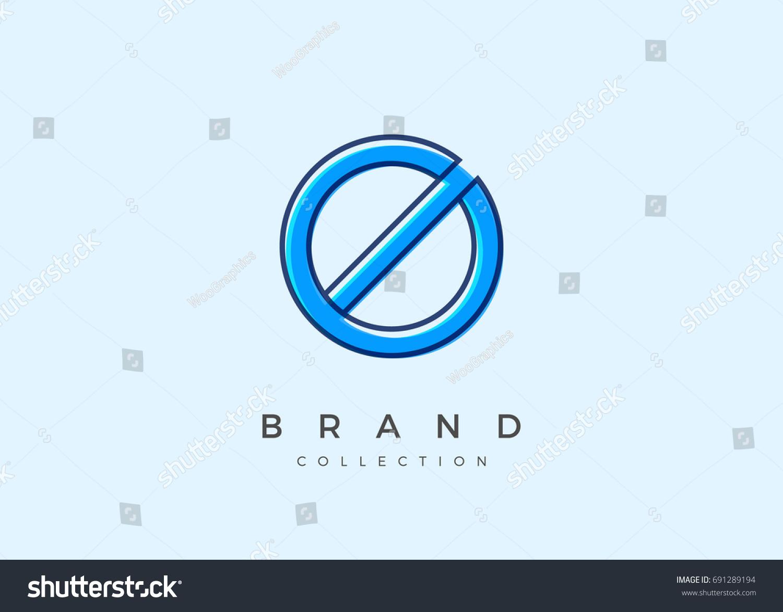 O Typography Alphabet Font Logo Icon Stock Vector (Royalty Free
