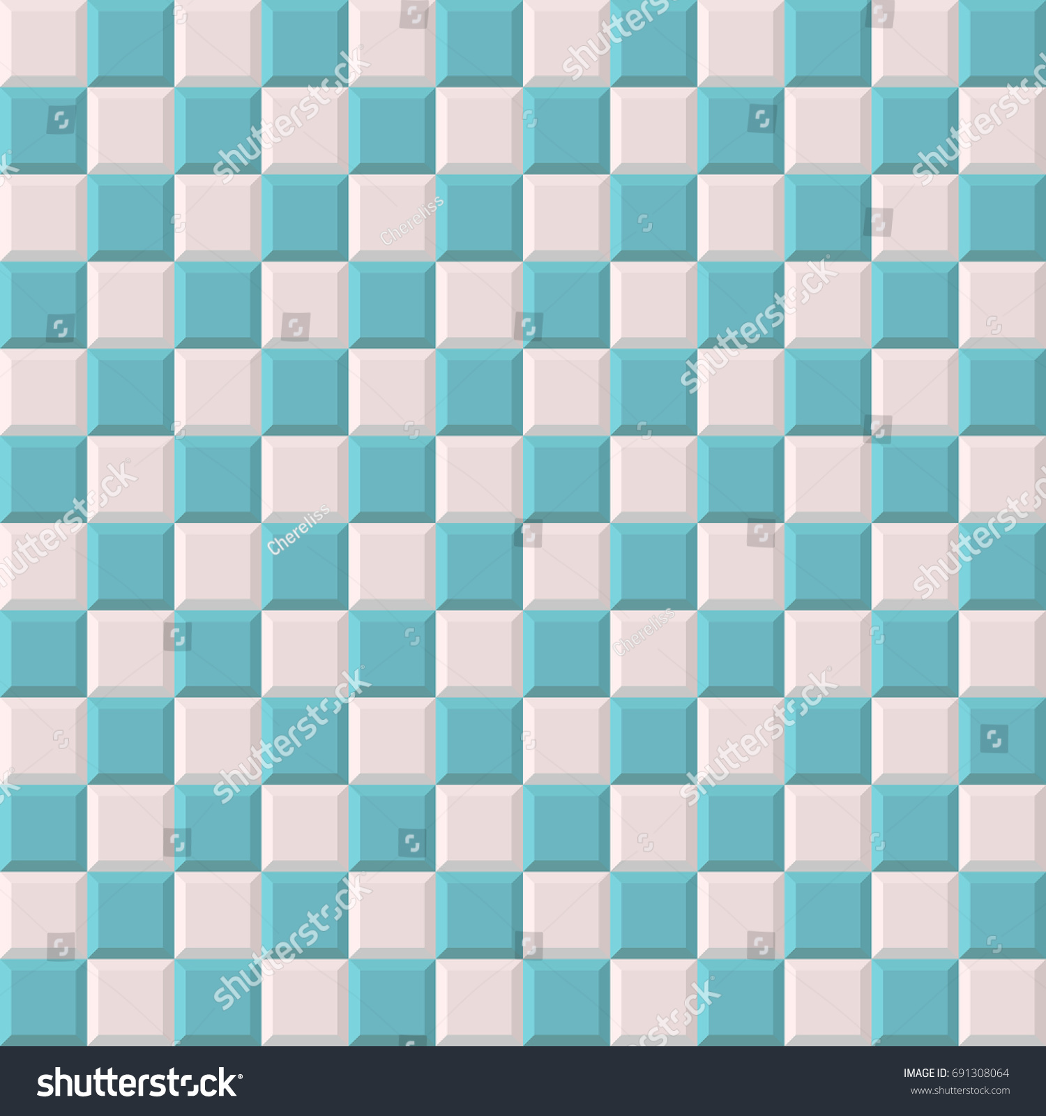 blue and white mosaic tile texture vector seamless pattern abstract background