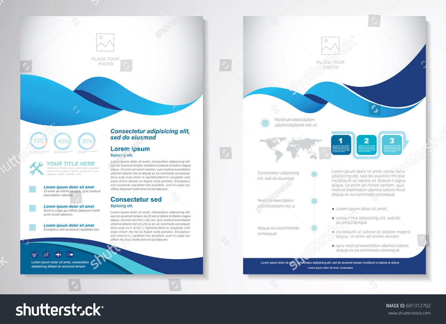 Template Vector Design Brochure Annual Report Stock-Vektorgrafik ...
