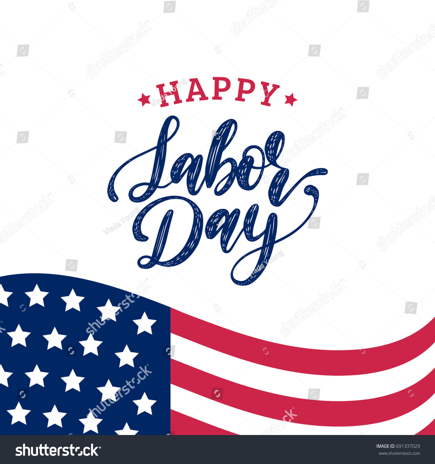 Vector labor day greeting invitation card stock vector 691337029 vector labor day greeting or invitation card national american holiday illustration with usa flag kristyandbryce Images