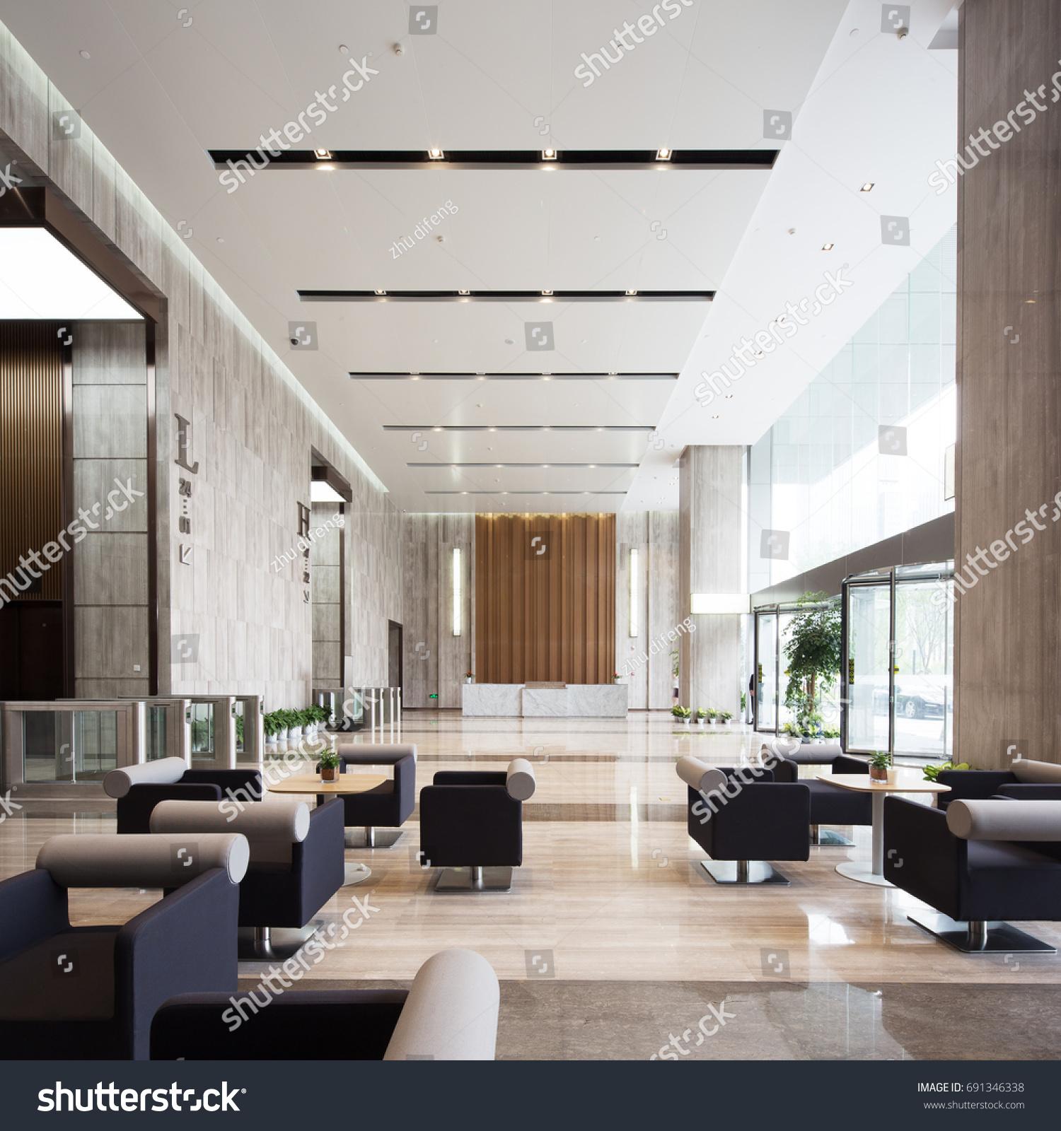 Hall D Entrée Moderne intérieur du hall d'entrée moderne dans : photo de stock
