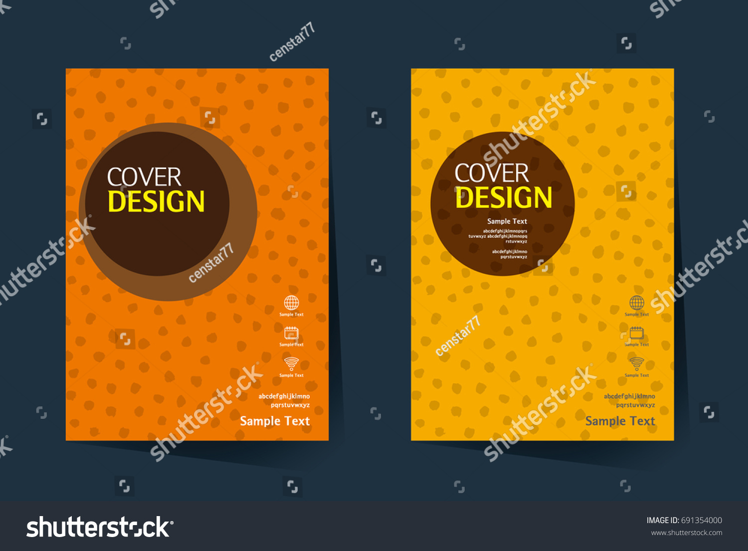 Book Cover Template Eps ~ Book cover annual report design layout stock vector
