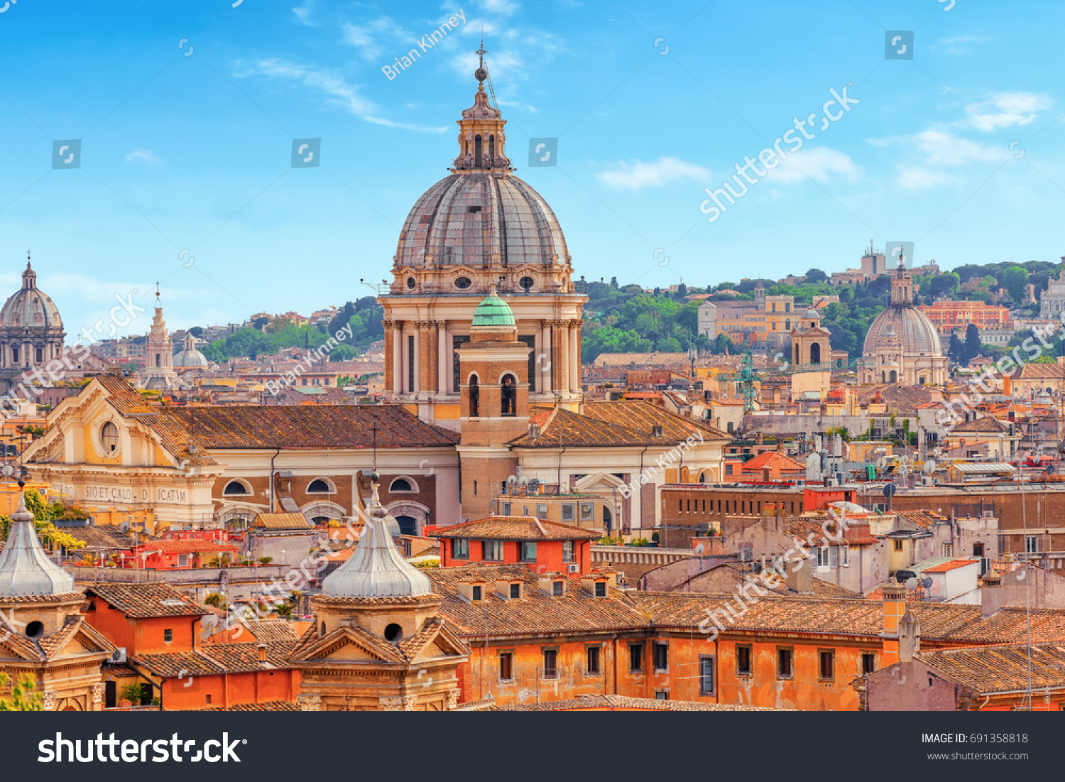 View City Rome Above Hill Terrazza Stock Photo (Royalty Free ...