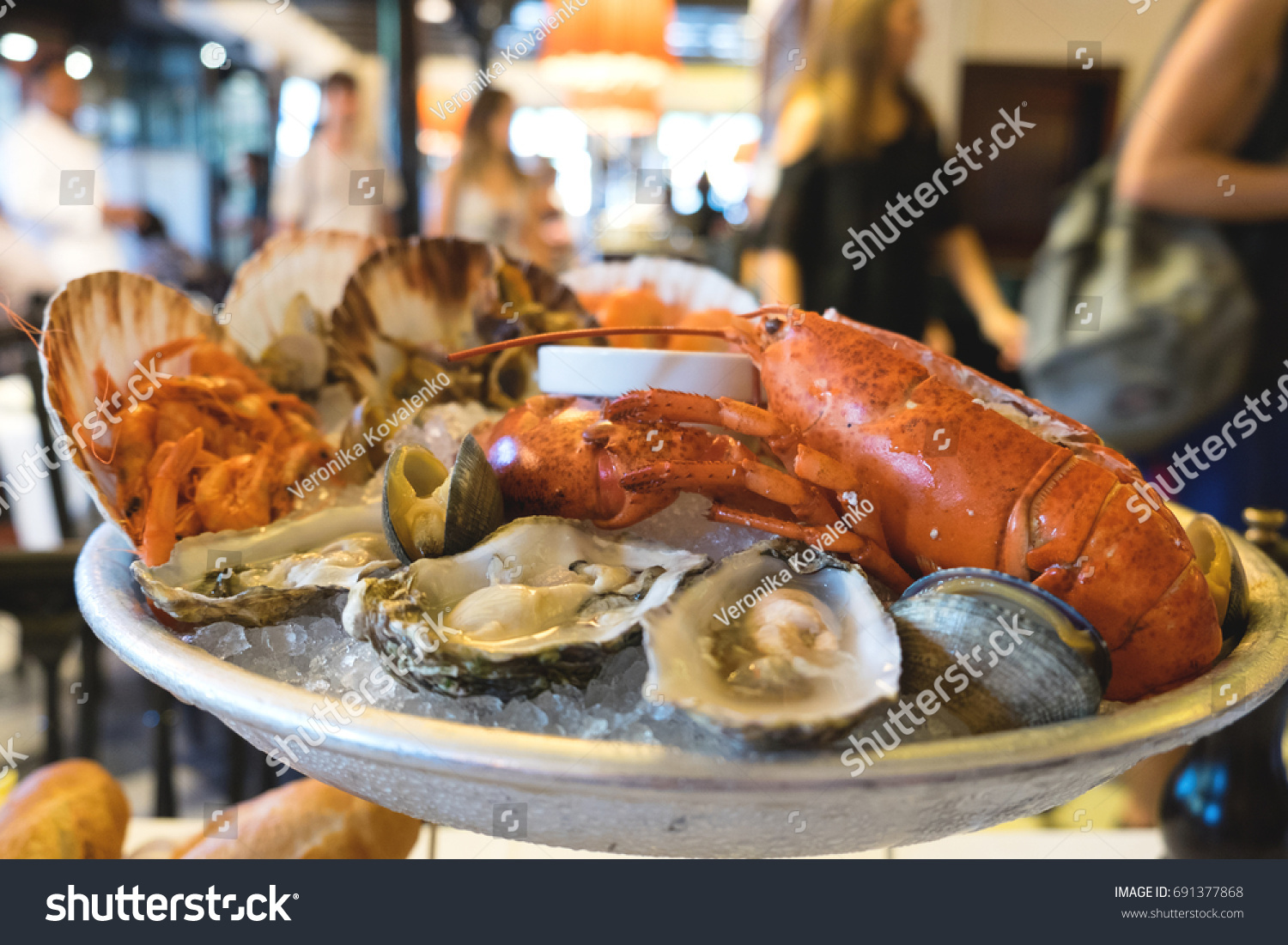 A Seafood Plate Of Delicious Mediterranean Catch The Day Served In Famous Restaurant