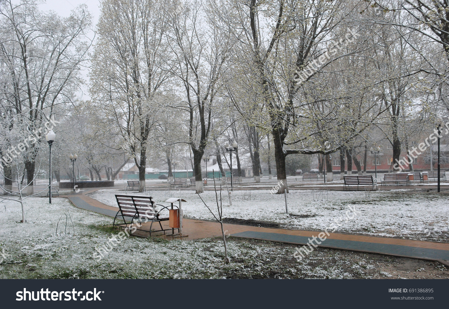 stock-photo-spring-snowfall-the-snow-in-