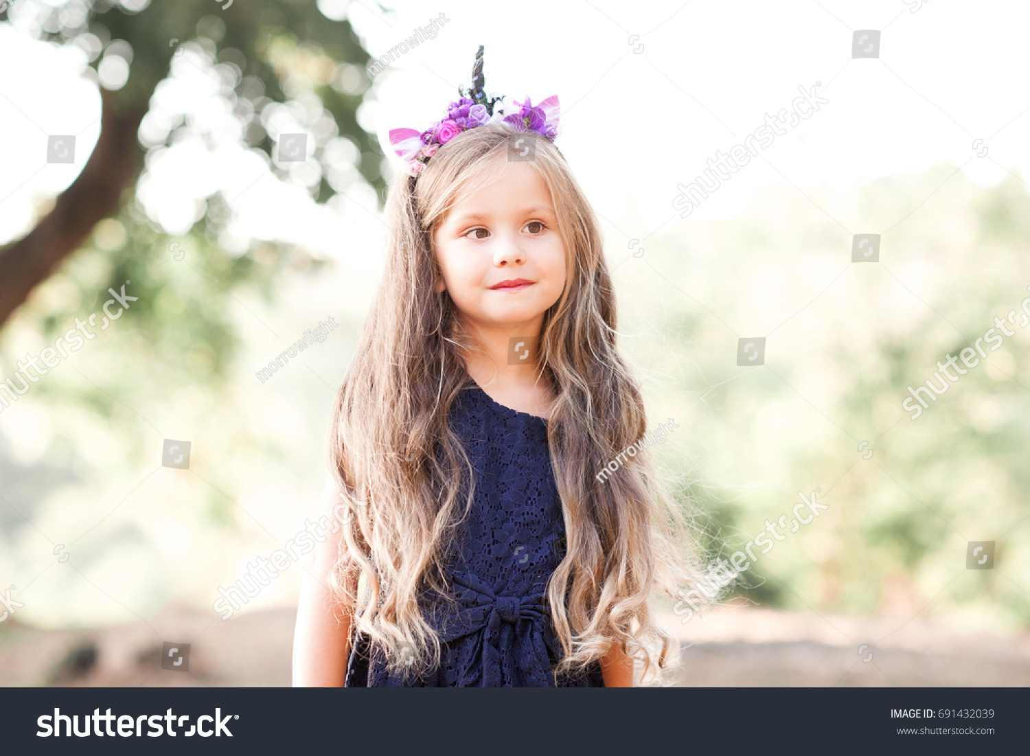cute baby girl 45 year old stock photo (royalty free) 691432039