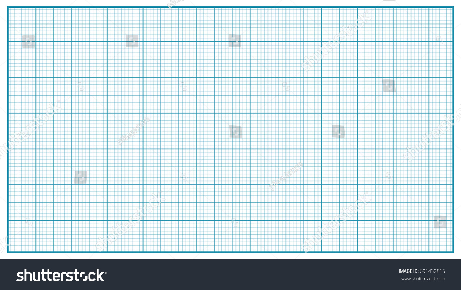 millimeter paper vector blue graphing paper stock vector royalty