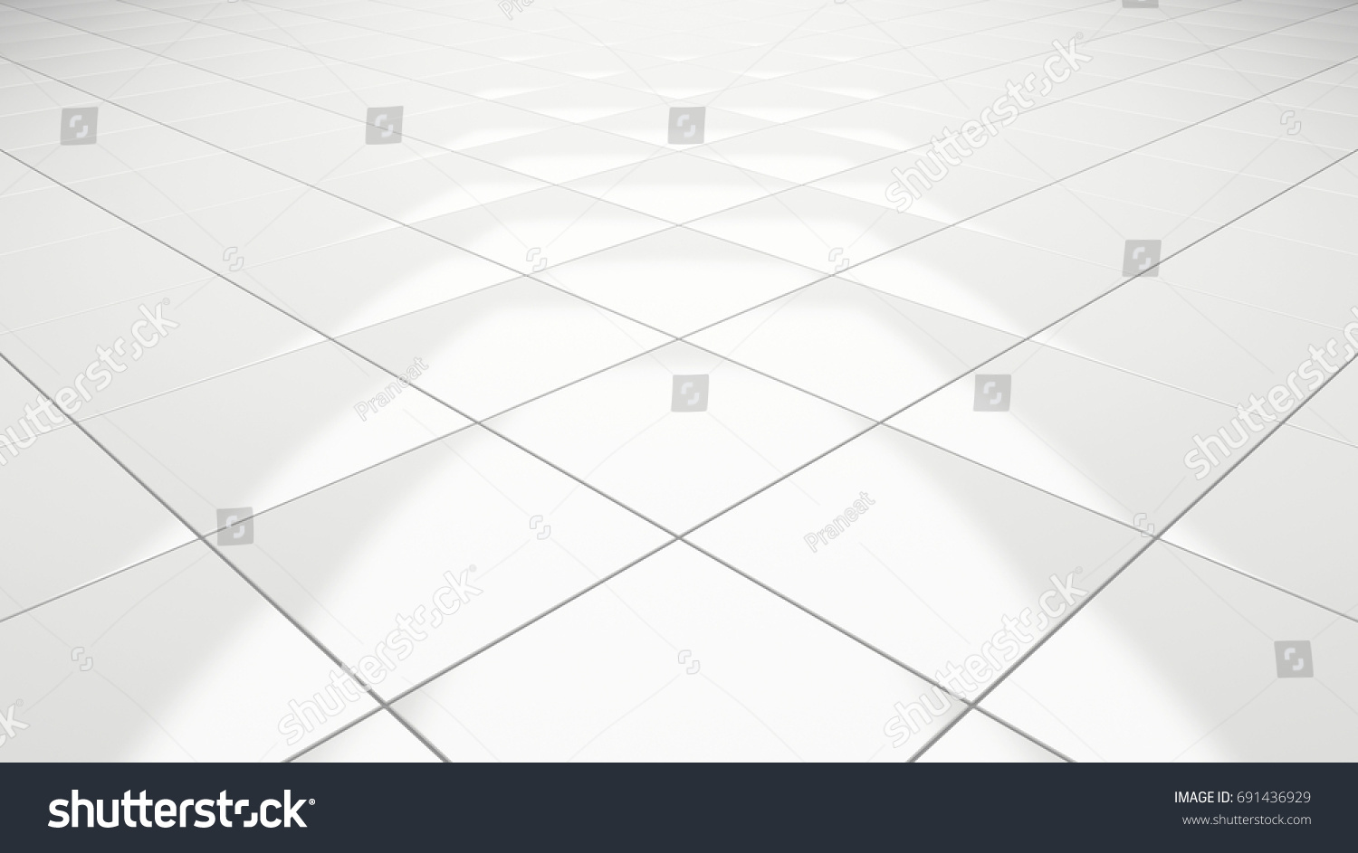 How to clean white tile floors choice image home flooring design clean white tile floor 3d rendering stock illustration 691436929 clean white tile floor 3d rendering perspective doublecrazyfo Gallery