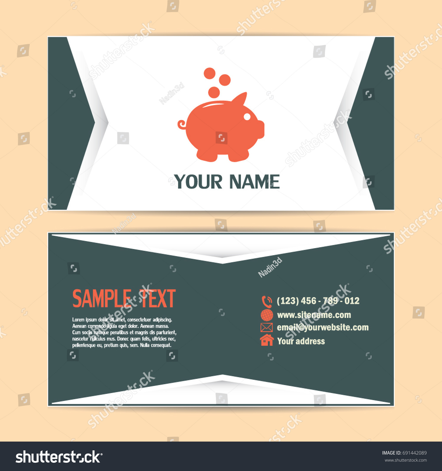 Beautiful Bank Business Cards Pictures Inspiration - Business Card ...