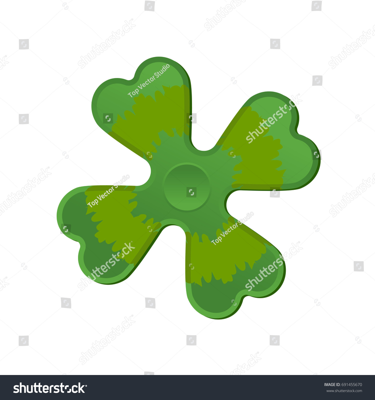 Irish spinner clover shamrock hand toy stock vector 691455670 irish spinner clover shamrock hand toy for ireland green clover fidget finger biocorpaavc Gallery