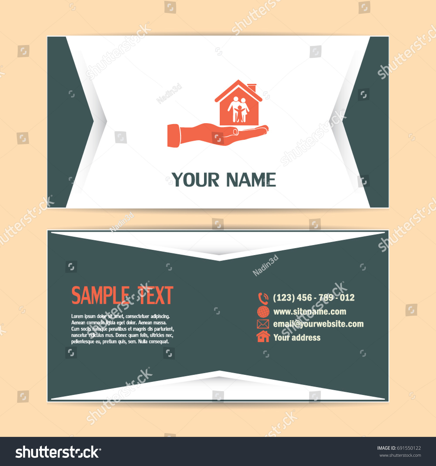 Business Cards Design Concept Illustration Safety Stock Vector ...