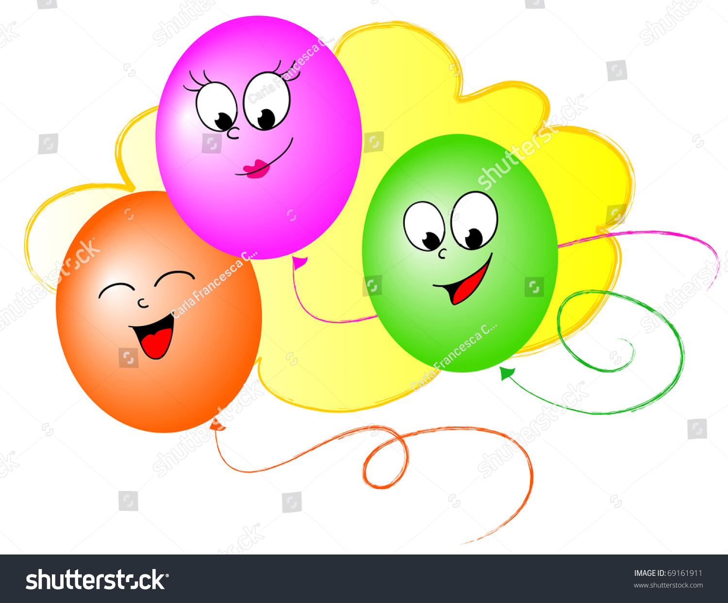 Funny balloon faces - Three Funny Balloon With Smiling Faces Preview Save To A Lightbox