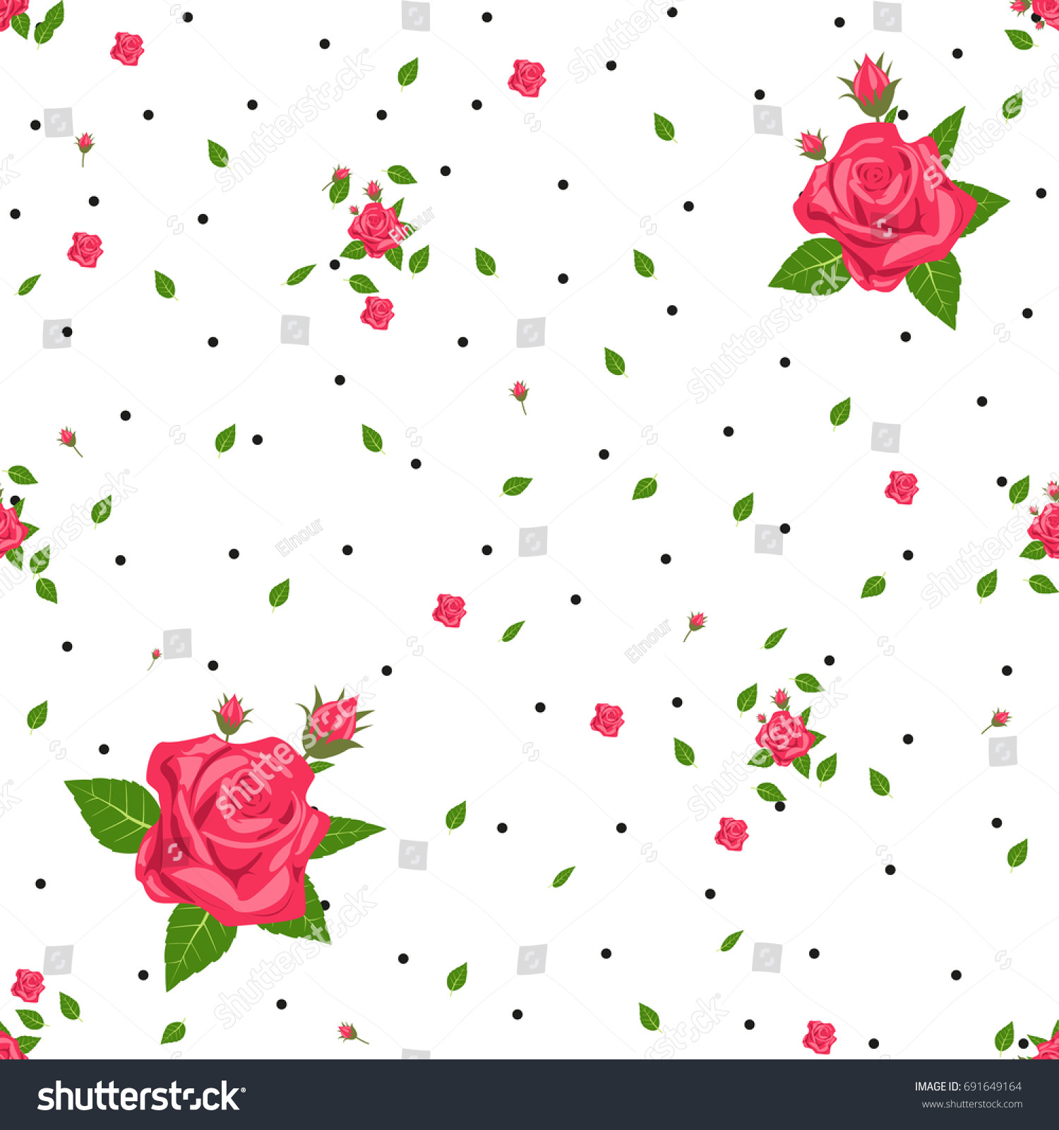cute floral pattern small flower ditsy stock vector royalty free