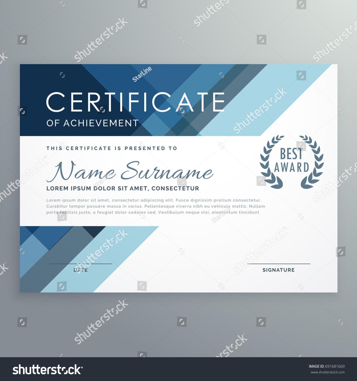 professional award certificate