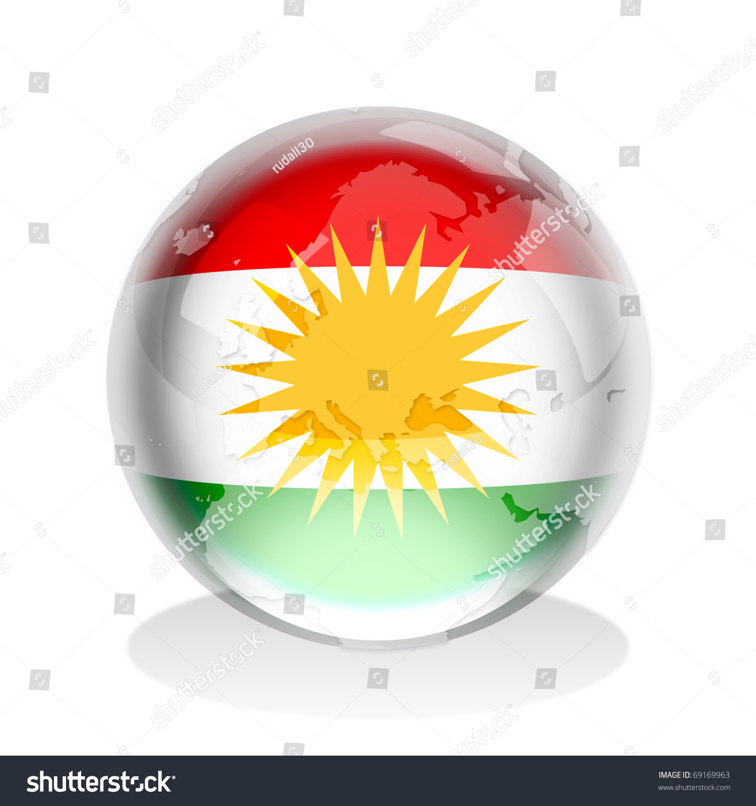 Crystal sphere kurdistan flag world map stock illustration crystal sphere kurdistan flag world map stock illustration 69169963 shutterstock gumiabroncs Choice Image