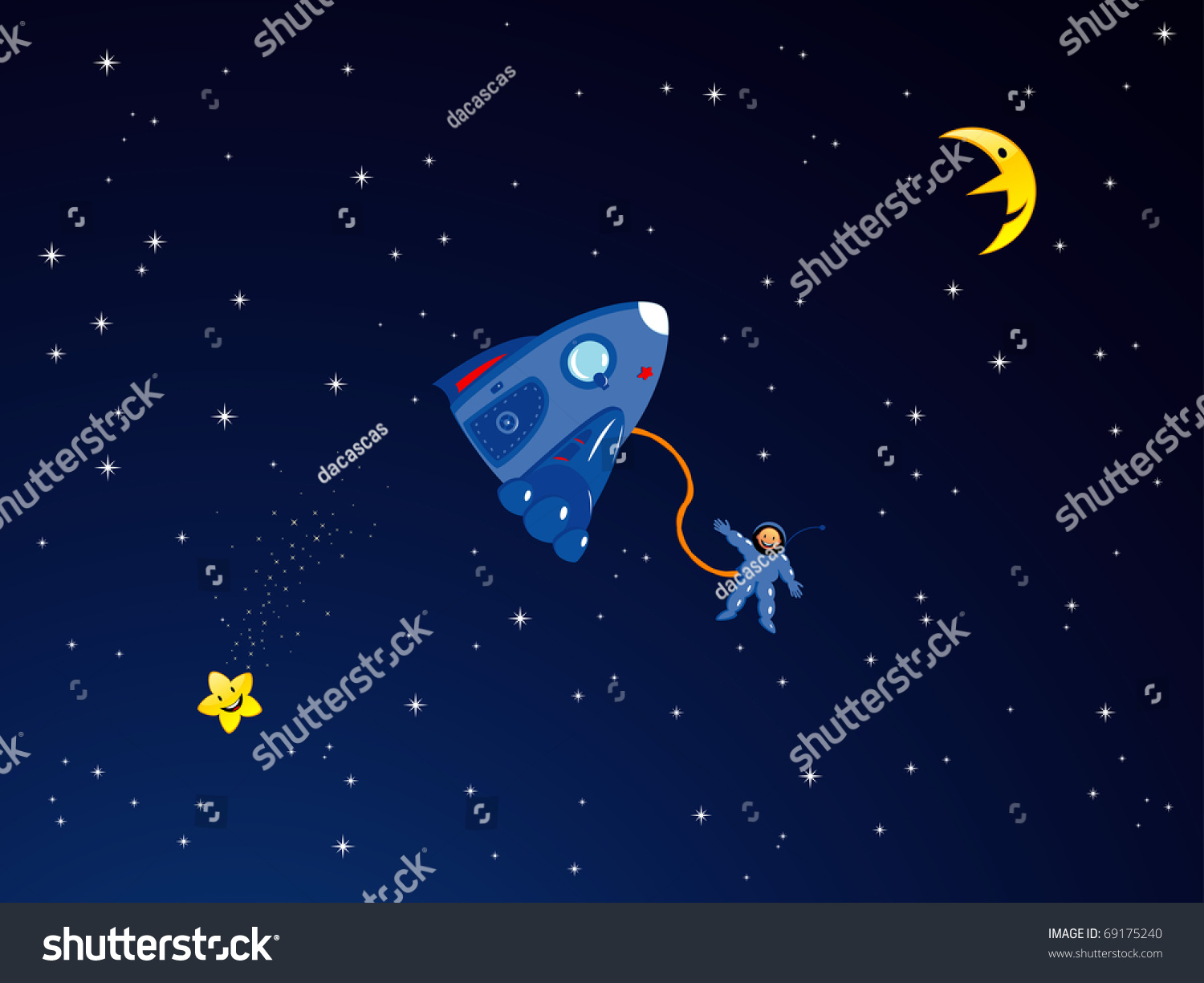 cartoon astronaut in outer space - photo #20