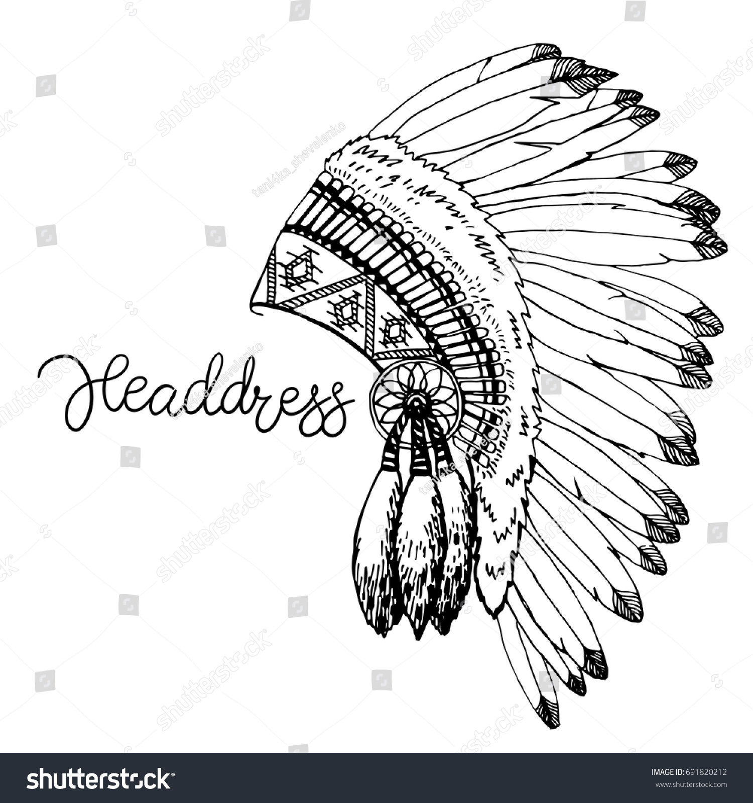 Perfect Indian Headdress Template Vignette - Examples Professional ...