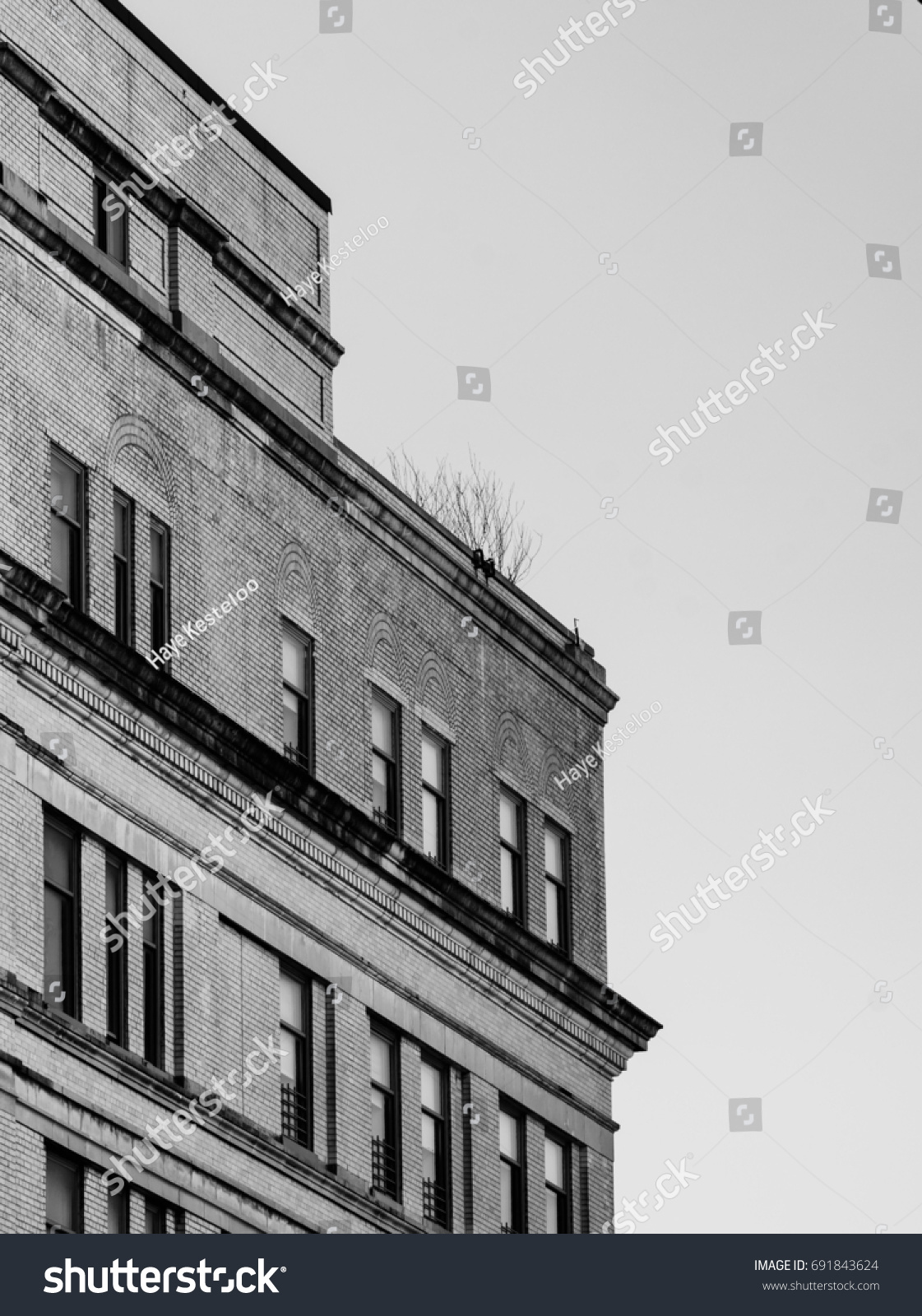 Design details of modern and classic architecture in manhattan