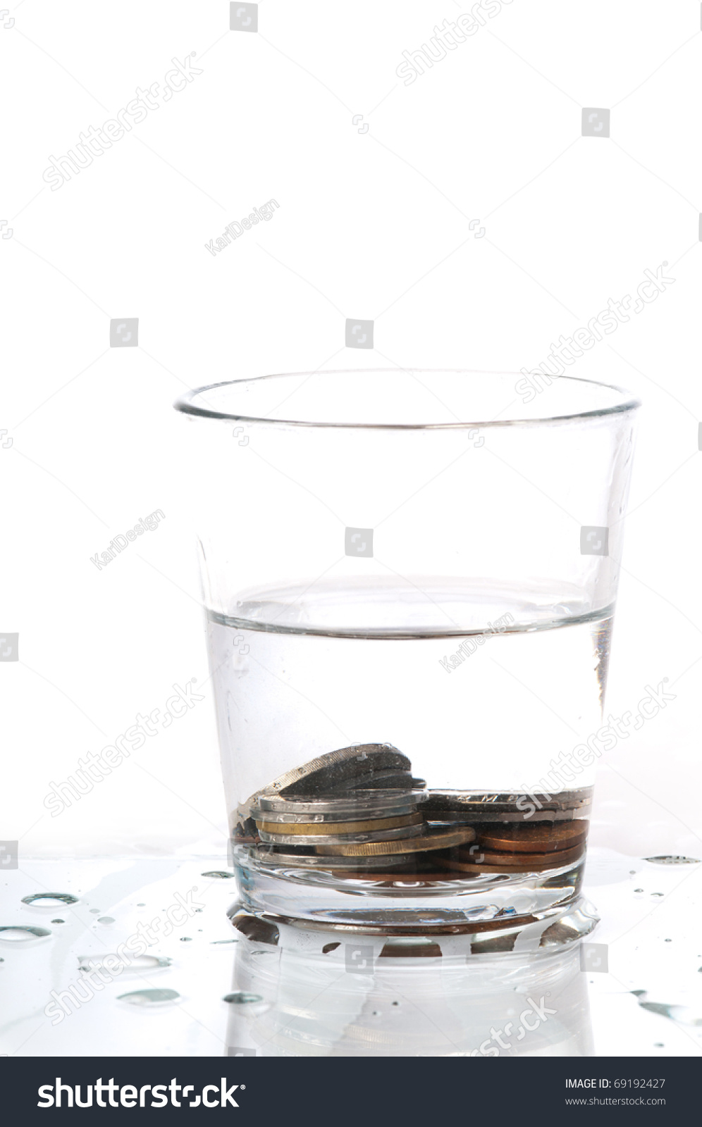 Tooth Fairy Tooth In Glass Of Water