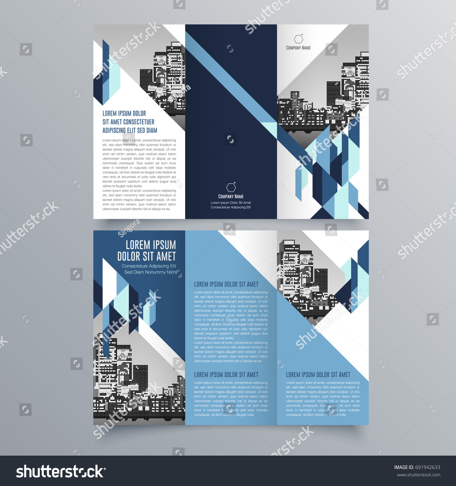 Brochure Design Brochure Template Creative Trifold Stock Vector - Cool brochure templates