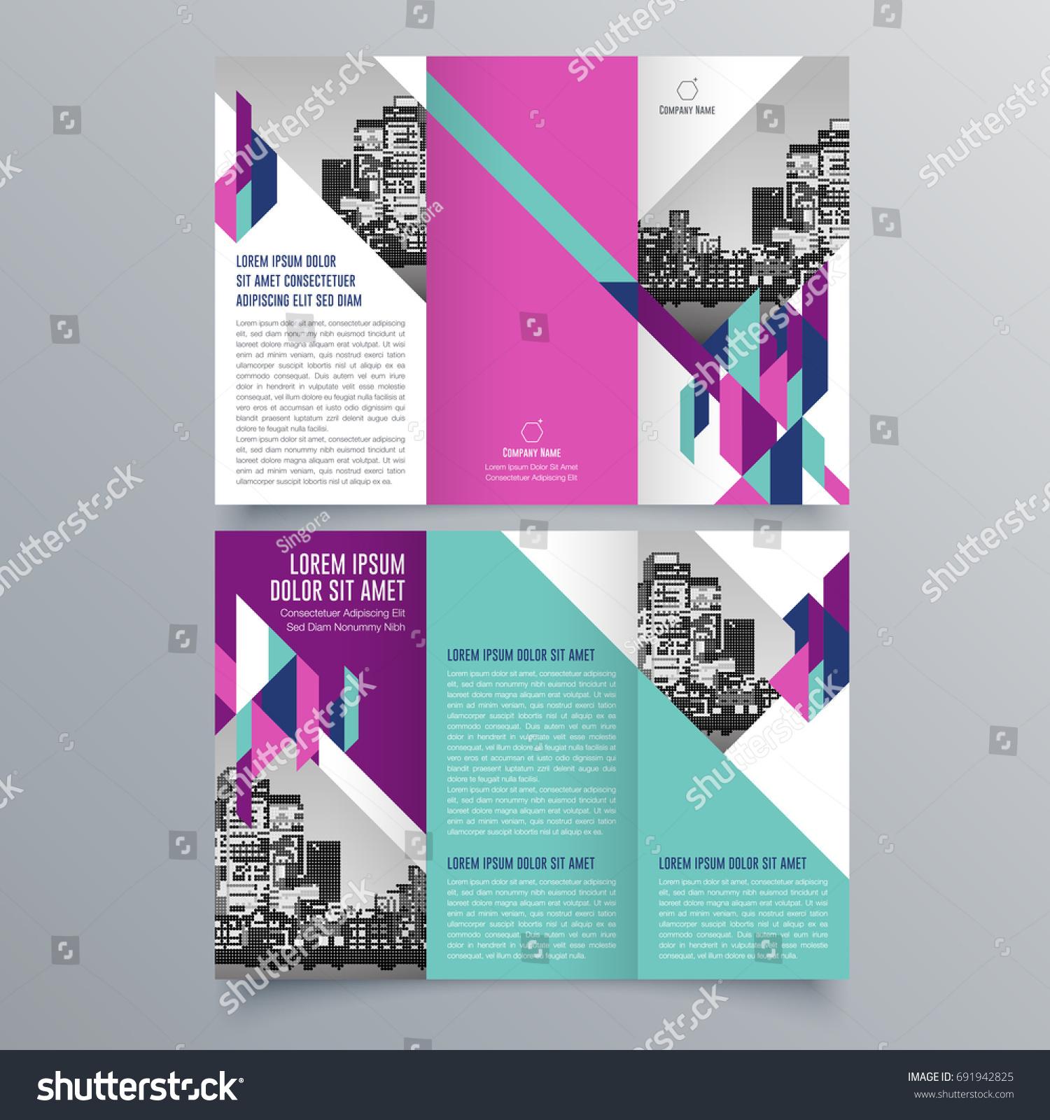 Brochure Design Brochure Template Creative Trifold Stock Vector HD - Mini brochure template