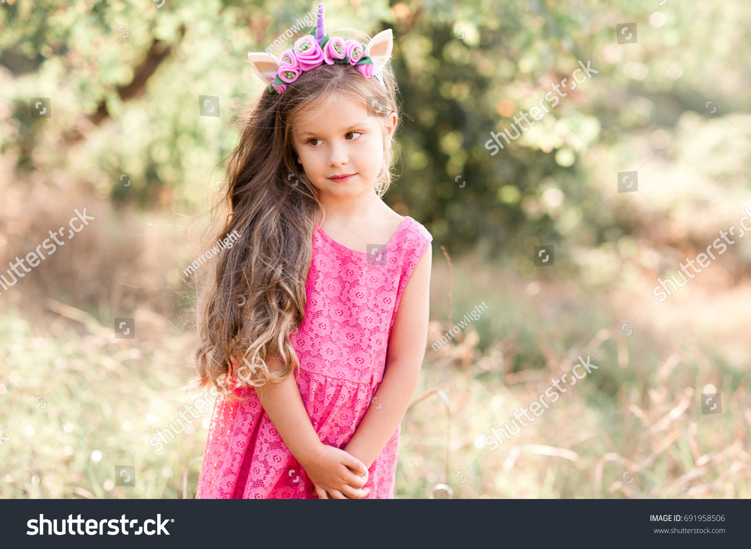 cute baby girl 45 year old stock photo (edit now) 691958506