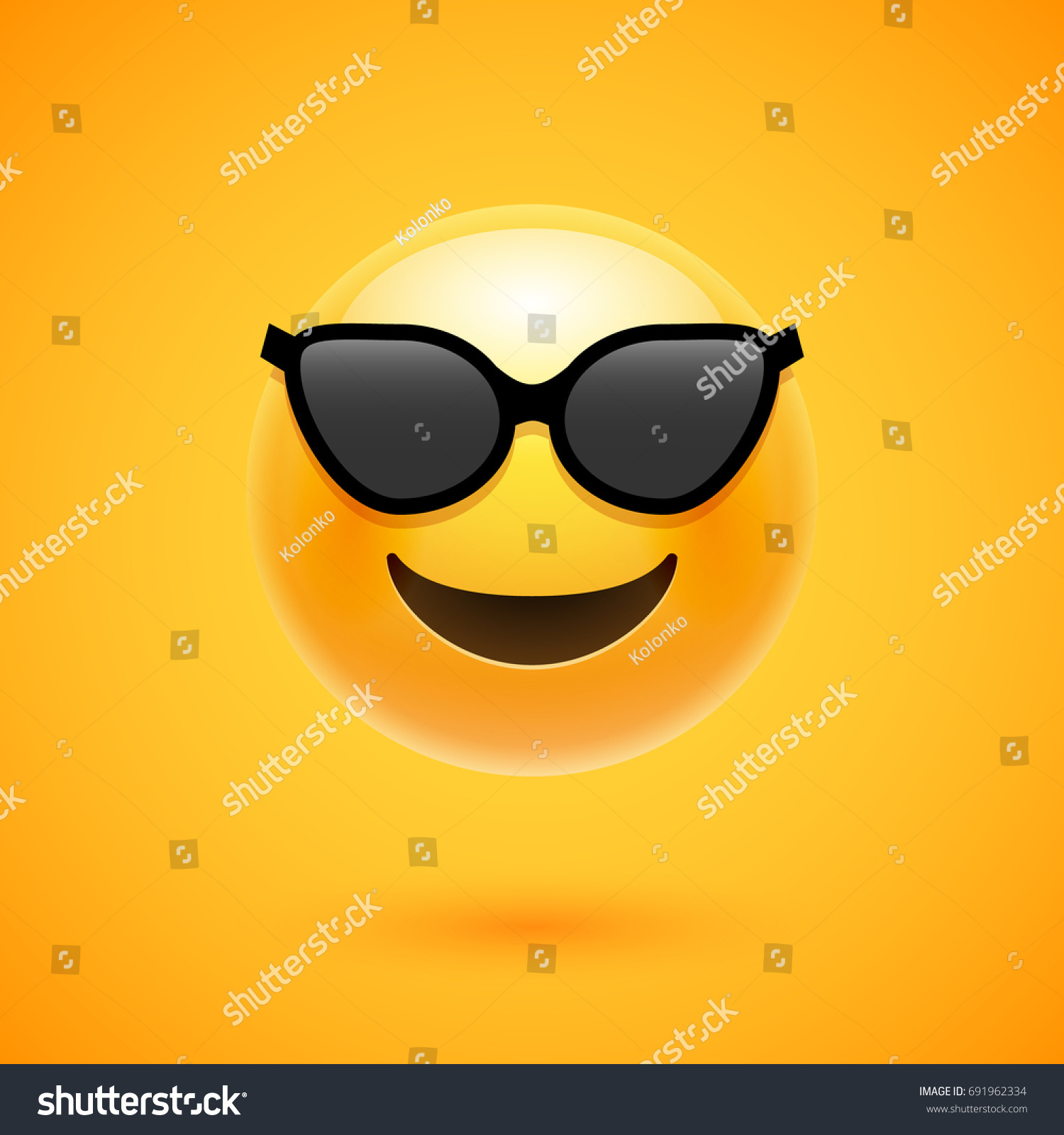 8dd469603b5 Smiling face with sunglasses - pill shaped yellow emoji - emoticon with smiling  face wearing dark sunglasses that is used to denote a sense of cool