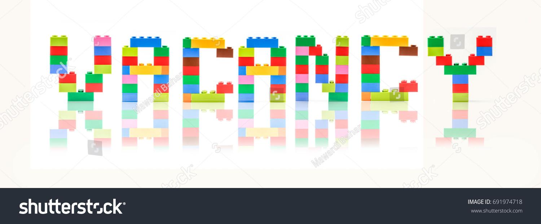Block Shape Word VACANCY Education Concept Stock Photo (Edit Now