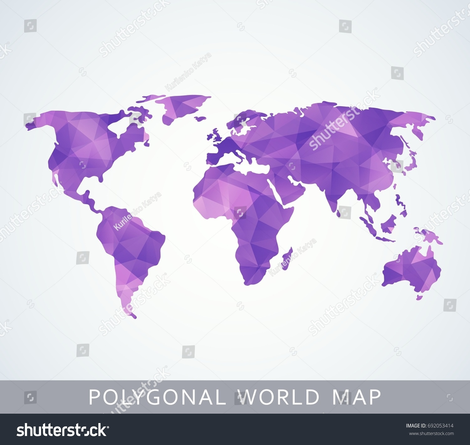 polygonal world map for presentation booklet website and other design projects