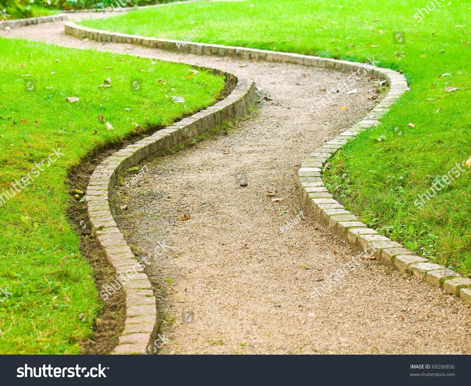 Winding path botanical garden stock photo 69206836 Pathway images