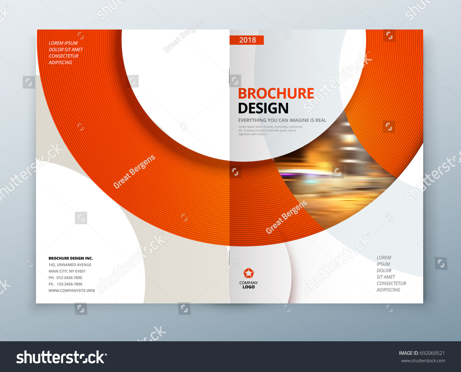 Brochure template layout design corporate business stock for Conceptual site model template