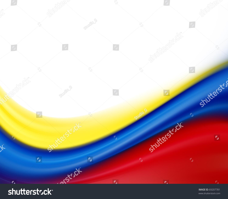 yellow blue red flag on white stock illustration 69207781 shutterstock. Black Bedroom Furniture Sets. Home Design Ideas